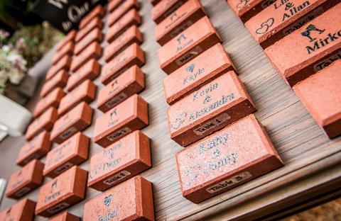 Souvenir Bricks Make the Perfect Wedding Souvenir
