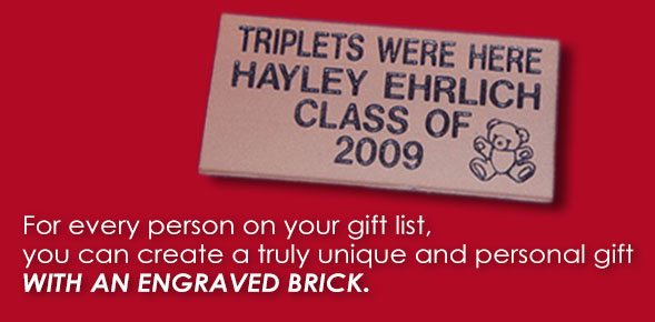 Engraved Bricks Make Great Gifts for Holidays, Special Occasions and More