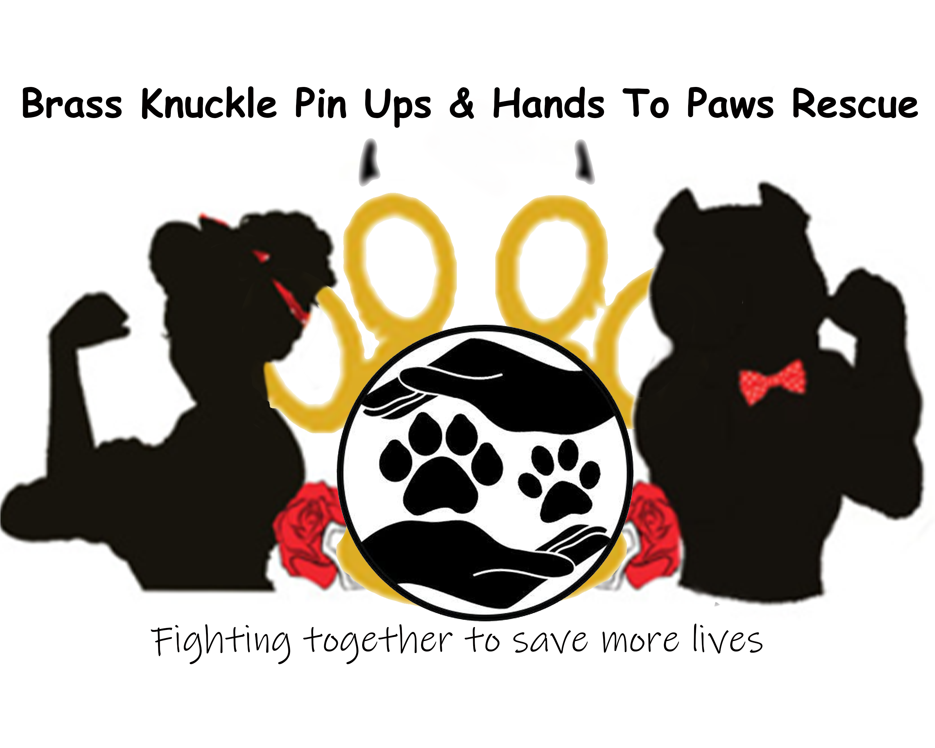 Brass Knuckle Pin Ups Rescue & Hands To Paws Rescue