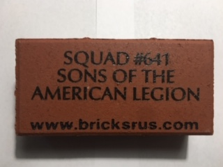 "Sons of American Legion Squad #641 ""COST OF FREEDOM"" Buy a Brick Campaign"