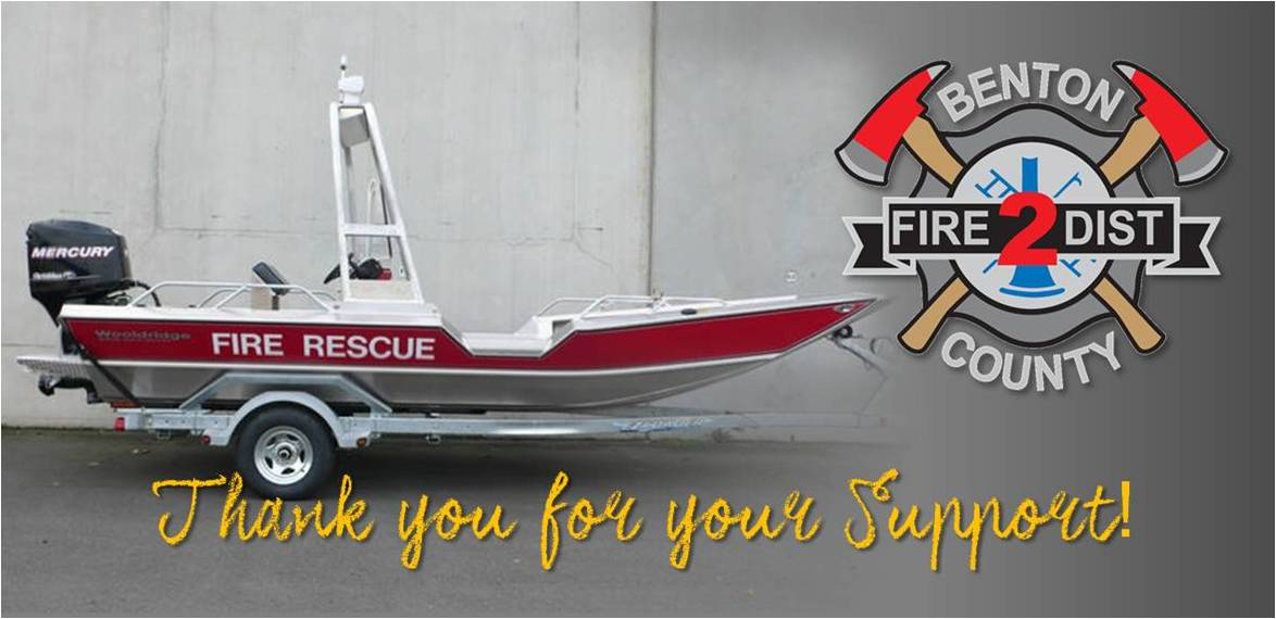 1 Benton County Fire Protection District 2 River Rescue Boat