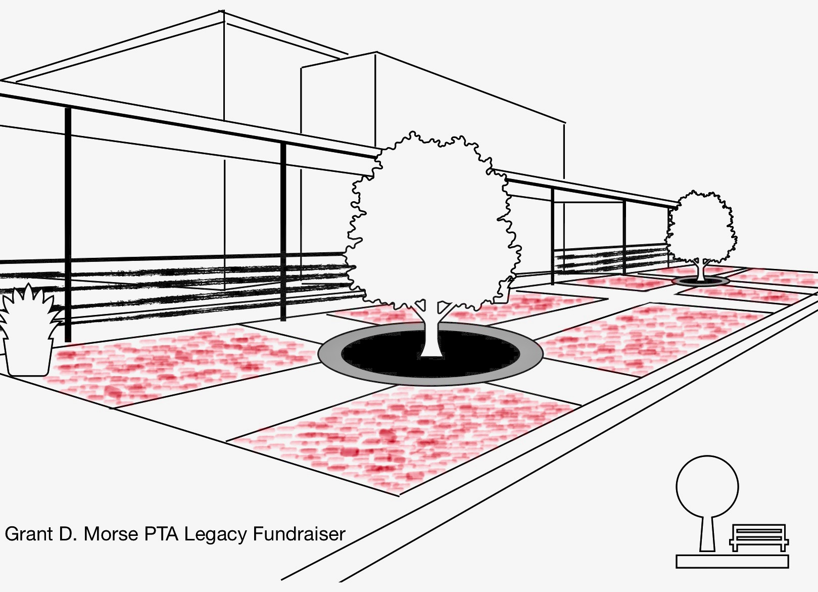 Grant D. Morse PTA Memorial Brick Paver Patio