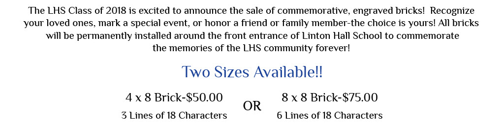 Linton Hall School Commemorative Brick Sale