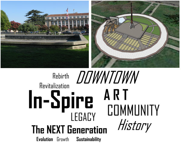 Save Downtown Stockton Foundation Hunter Square Spire Project at MLK Jr Plaza