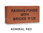 Belden engraved admiral red brick