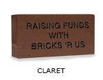 Belden engraved claret brick