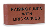 Finished engraved red memorial brick