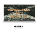 Engraved green granite