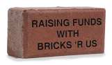 Hanson engraved concrete bricks
