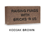 Belden engraved kodiak brown brick