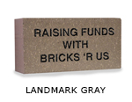 Belden engraved landmark gray brick