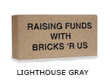 Belden engraved lighthouse gray brick