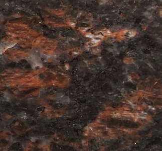 Engraved black-brown marble