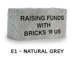 Grey engraved brick