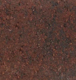 Icons engraved red charcoal brick