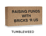 Belden engraved tumbleweed brick