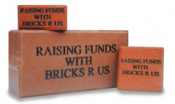 Engraved custom donor bricks