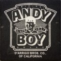Engraved andy boy brand design logo brick