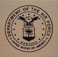 Engraved department of the air force logo brick