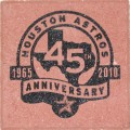 Engraved houston astros anniversary logo brick