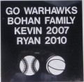 Engraved bohan family logo brick