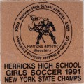 Engraved herricks high school logo brick