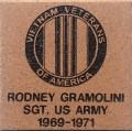 Engraved rodney gramolini logo brick