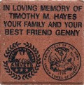 Engraved timothy m hayes logo brick