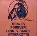 Engraved waterkotte family logo brick