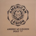 Engraved american legion post 757 logo brick