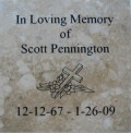 Engraved scott pennington logo brick