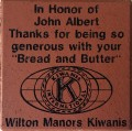 Engraved john albert logo brick