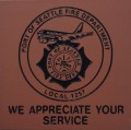 Engraved port of seattle fire department logo brick