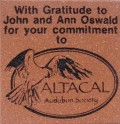 Engraved altacal audubon society logo brick