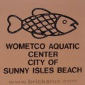 Engraved wometco aquatic center logo brick
