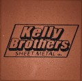 Engraved kelly brothers logo brick