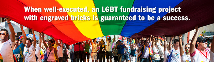 Customized Bricks Great for LGBT Fundraising Projects